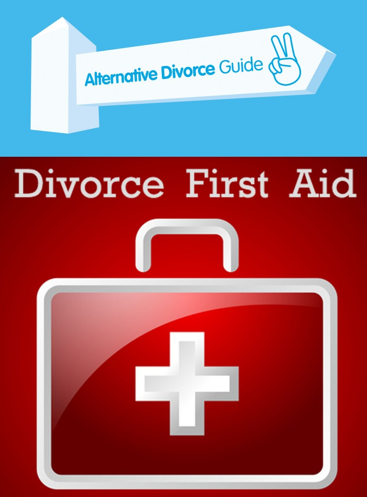 DivorceFirstAidLogo, alternative divorce guide, how to divorce amicably, online divorce advice, avoid adversarial divorce lawyers,