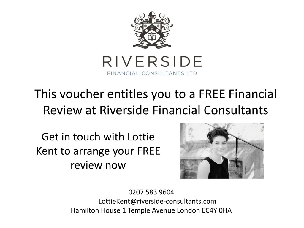 This voucher entitles you to a free financial review at Riversid