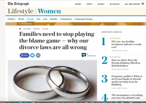 I've been quoted in the Telegraph: Let's bring on no-fault divorce